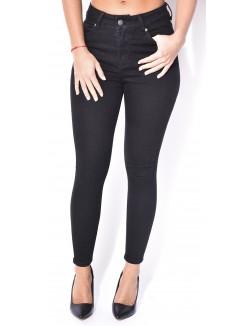 Jeans noir taille haute