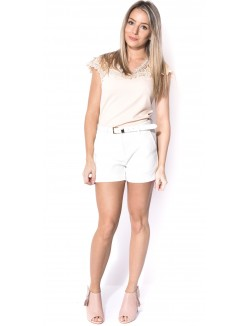 Short basic à ceinture