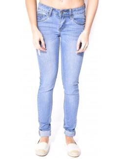 Jeans slim clair délavé