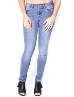 Jeans délavé à zips