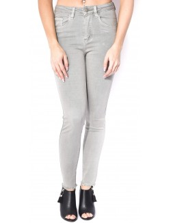 Jeans kaki taille haute