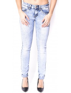 Jeans acid-wash push up