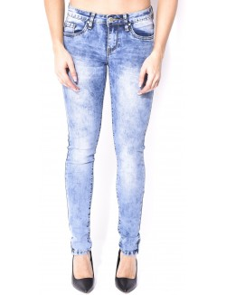 Jeans skinny délavage acid-wash