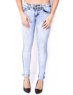 Jeans slim acid-wash