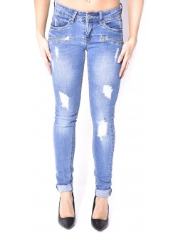 Jeans déchiré à zips