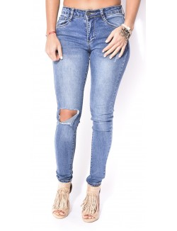 Jeans slim destroy