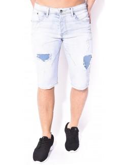Bermuda Gov denim en jeans déchiré