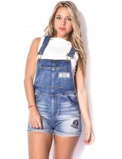 Salopette short en jeans