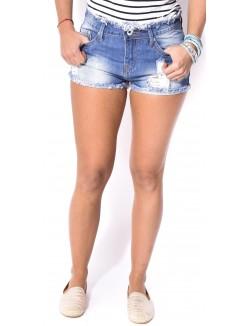 Short en jeans court déchiré