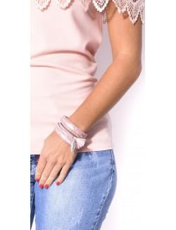 Bracelet à multibrides contrastantes
