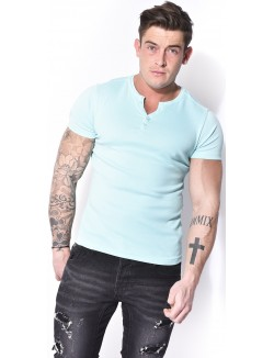 T-shirt Crossby à boutons