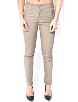 Pantalon kaki à zips