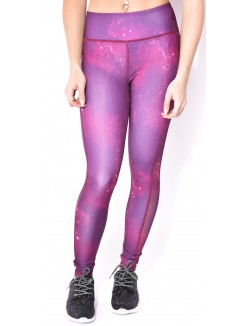 Legging de sport motif Galaxy