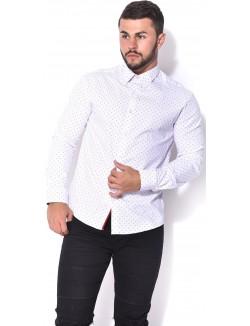 Chemise slim fit à motifs