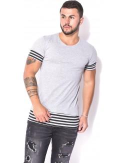 T-shirt homme oversize à empiècement rayé