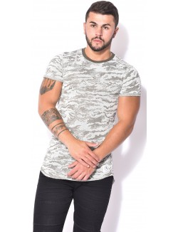 T-shirt oversize chiné camo