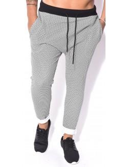 Pantalon sarouel à motifs