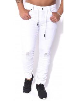 jeans Project X motard effet destroy
