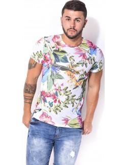 T-shirt homme fleuri