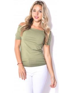 T-shirt encolure bardot