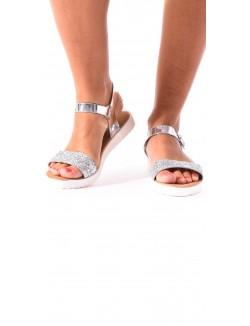 Sandales ajourées à paillettes