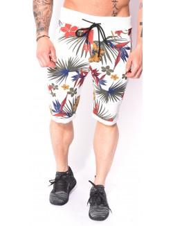 Short homme à fleurs