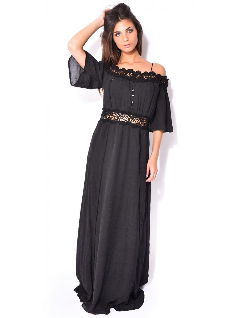 robe longue dentelle boheme robes de mode site photo blog. Black Bedroom Furniture Sets. Home Design Ideas