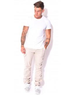 Pantalon cargo Crossby beige