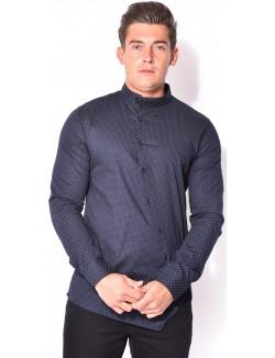 Chemise homme asymétrique à motifs