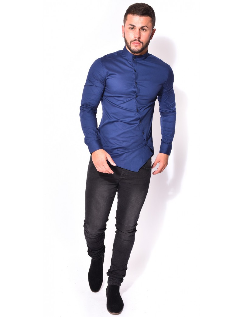 chemise slim fit asym trique jeans industry. Black Bedroom Furniture Sets. Home Design Ideas
