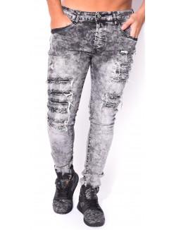 Jeans Project X délavé effet destroy