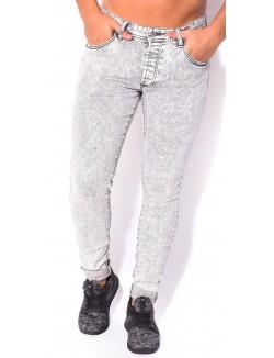 Jeans Project X skinny gris délavé