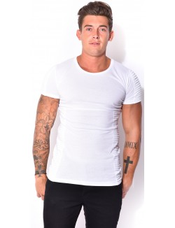 T-shirt homme long matelassé