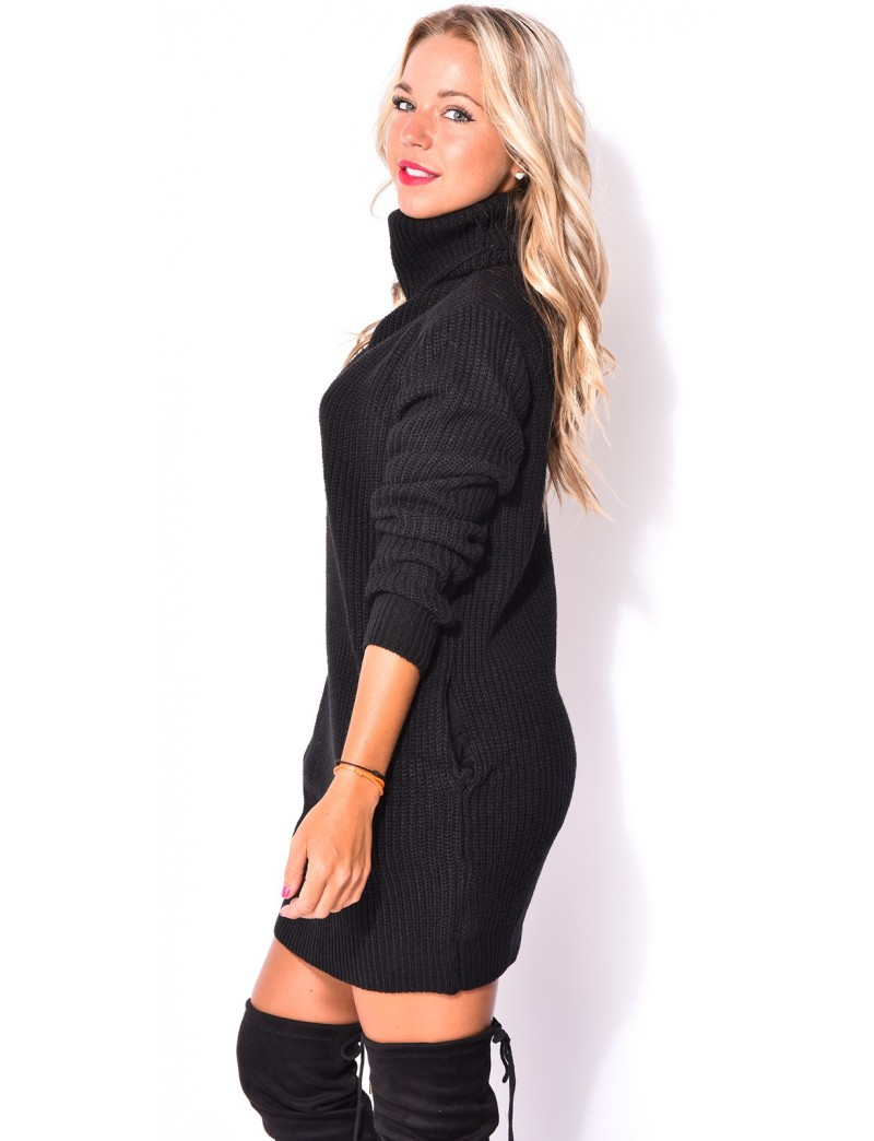 Robe Pull Col Roul Jeans Industry