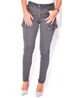 Jeans slim cargo