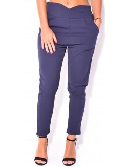 Pantalon de tailleur croisé