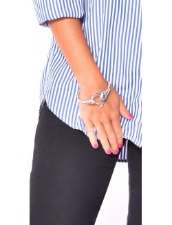 Bracelet manchette à tête de buffle