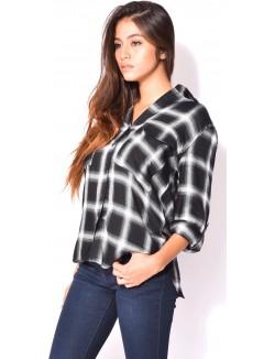 Chemise oversize à carreaux