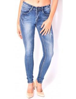 Jeans skinny effet usé push-up