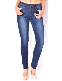 Jeans slim bleu délavé