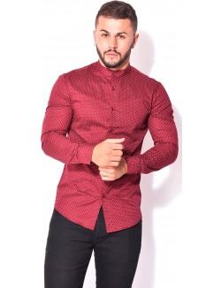 Chemise homme col mao à motifs