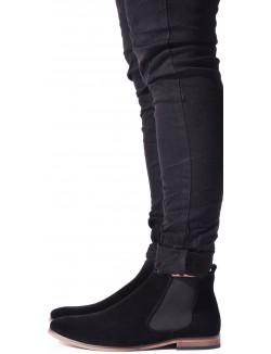 Boots en daim à élastique