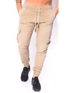 Pantalon Cargo Homme Beige