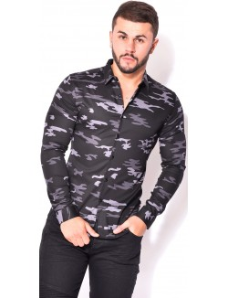 Chemise homme slim-fit camo