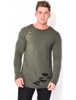 T-shirt oversize troué
