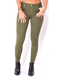 Jegging taille haute destroy