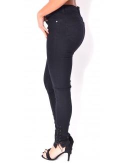 Jeans slim lacé aux chevilles