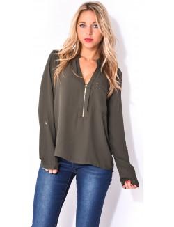 Chemise en voile zippée